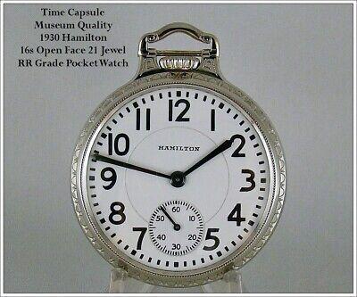 'Time Capsule' Museum Quality 1930 Hamilton 992 16s RR Grade Pocket Watch