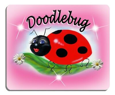 Ladybug Sweetie Mouse Pad Personalize Gifts Girls Ladies Flowers Soft Pink -