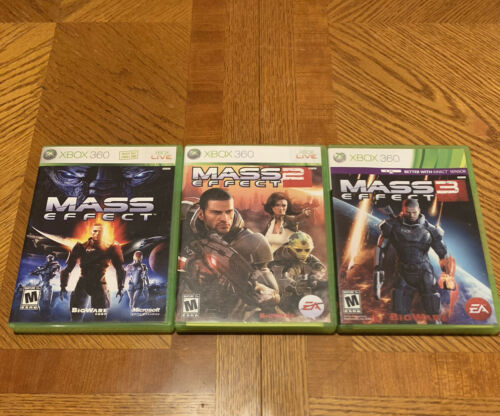 XBOX 360 Games Mass Effect 1 2 And 3 Trilogy Bundle In Case W/ Manuals Quickship - $24.99