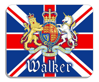 British Flag Union Jack Coat Of Arm Mouse Pad Personalize Text-name England 14