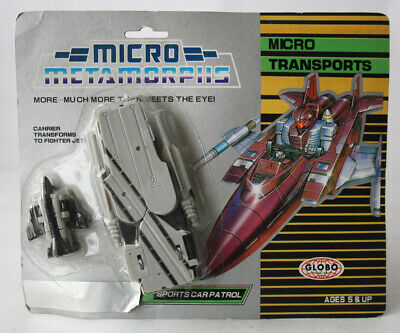 RARE VINTAGE 90'S TRANSFORMABLE MICRO METAMORPHS SPORTS CAR PATROL GLOBO NEW !