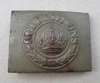 original Preussen Koppelschloss für Mannschaften  Stahl  feldgrau 14 18