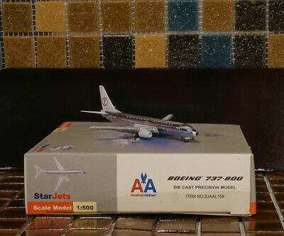 - SCHUCO STAR JETS American Airlines Boeing B737-800 Retro Colors 1/500 Airplane