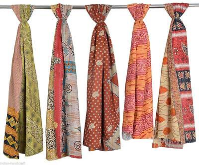 100 Pc Lot Vintage Kantha Handmade Scarf Fashion Bandana Assorted Cotton Stole