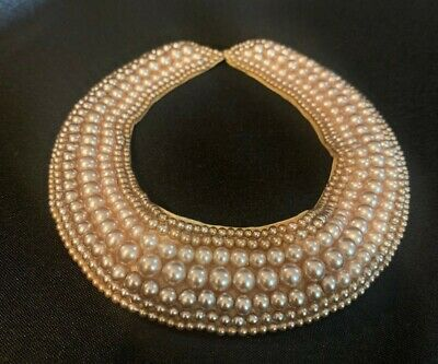 1950s Jewelry Styles and History Vintage Rosegold Pearl Collar Necklace 1950s $13.00 AT vintagedancer.com
