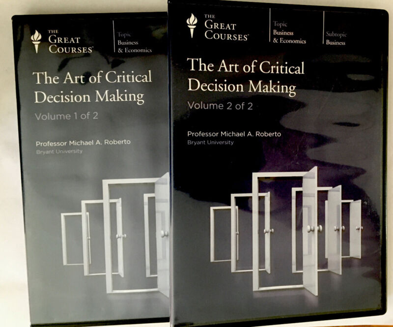 The Art of Critical Decision Making, The Great Courses, 12 Audio CDs, No Book