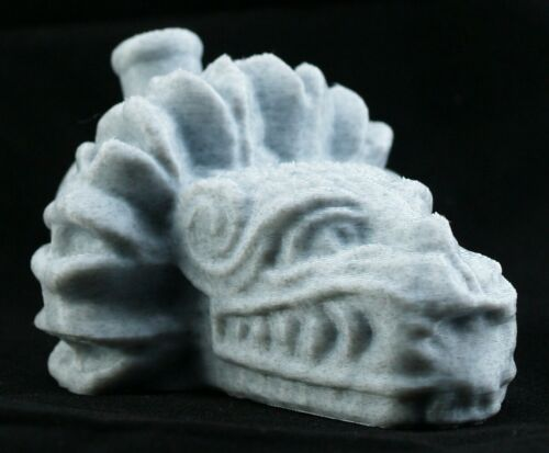 Aztec Quetzalcoatl Death Whistle Marble White Feathered Serpent God MADE IN USA