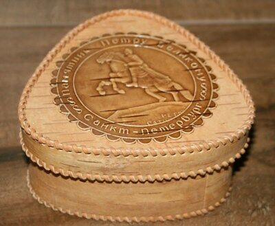 Handcrafted Russian Birch Bark Jewelry and Trinket Box (Birch Bark Boxes)