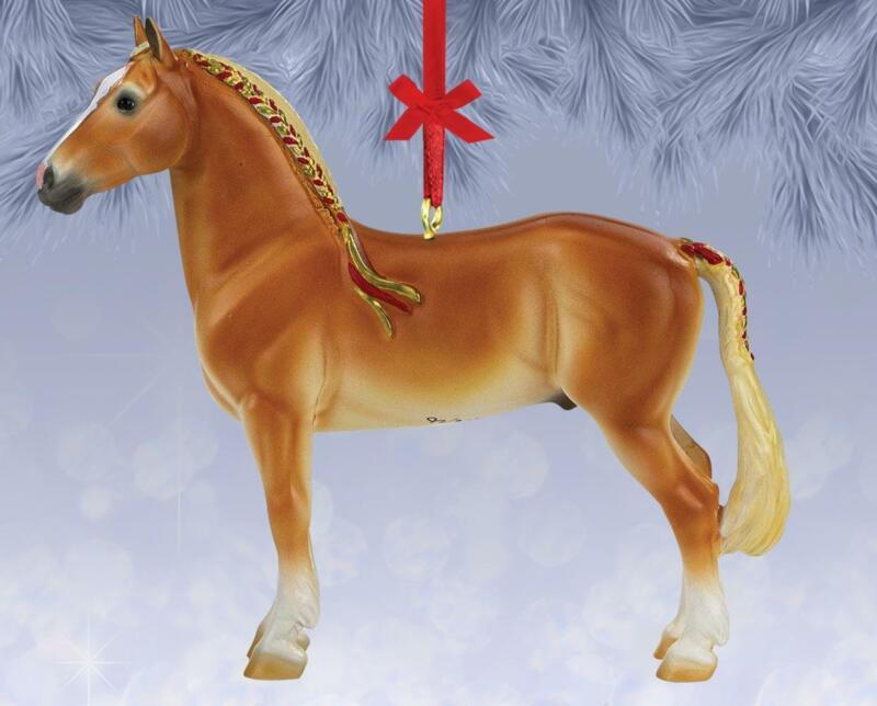 Breyer 2021 Christmas Beautiful Breeds Ornament-Belgian Horse Collectible Series