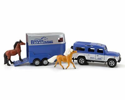 Breyer horse stablemate size truck and trailer New with horses
