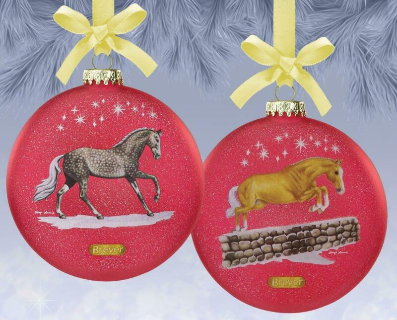 New Breyer 2021 Christmas Artist Signature Glass Collectible Series Ornament
