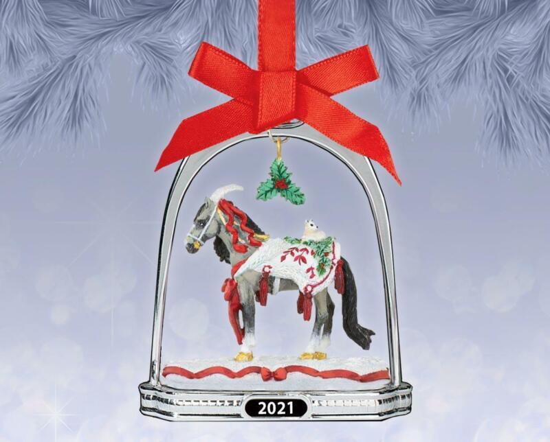 Breyer 2021 Christmas Arctic Grandeur Stirrup Horse Collectible Ornament
