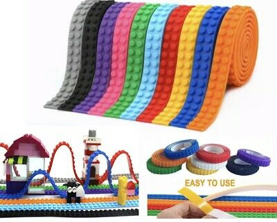 10 Rolls Of Lego Tape Self Adhesive Building Block 10 Color Pack + Scissors NEW