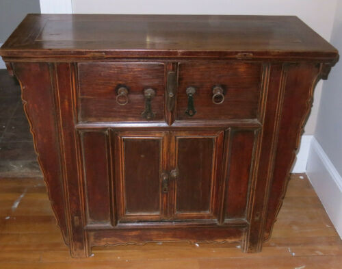 Antique c 1890 Chinese Butterfly Chest with Drawers Estate Find
