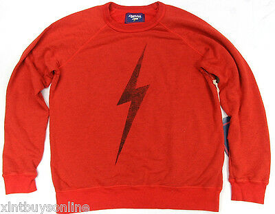 Lightning Bolt Long Sleeve Crew Neck Sweater Big Bolt Cherry Toma Surf Bolt ()