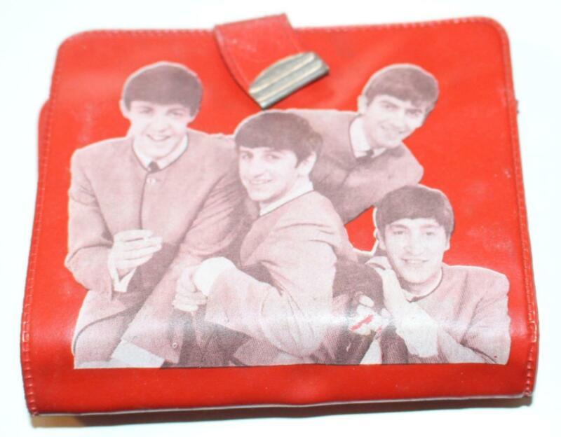 Vintage Beatles Vinyl Red Wallet Change Prse