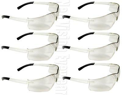 Lot Of 6 Pair Radians Rad Atac Clear Lens Frosted Safety Glasses Z87