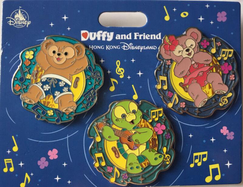 HKDL Hong Kong Disney Duffy & friends Shelliemay Olu Mel pin Sea Turtle Pin set