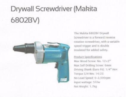 Makita Reversible Tech Screw Gun