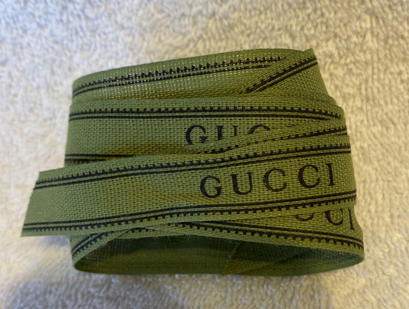 "Gucci Brand Store Merchandise Ribbon 60"" X 1/2"""