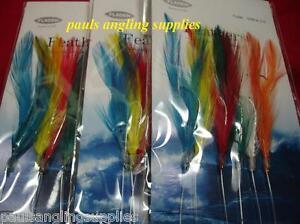 5-x-Fladen-Mackerel-Feathers-Sea-Fishing-Rig-6-Hook-size-2-0
