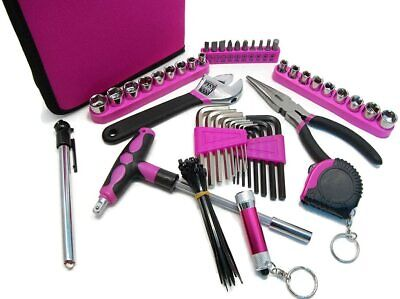 Illinois Industrial Tool Ladies Pink Tool Set with Case, Pink, 85-Piece