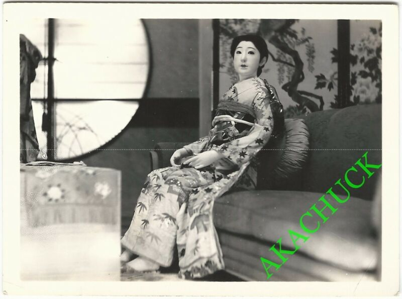 "2 Rare Photos GEISHA DOLLS DISPLAY 1939 Golden Gate International Exposition ""B"""
