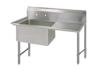 Bk Resources 18x18 One Compartment 16 Gauge Stainless Steel Sink