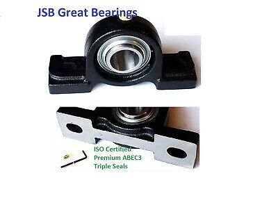 Qty.2 Pillow Block Bearing Premium Solid Base Ucp204-12 Triple Seal Abec3 34