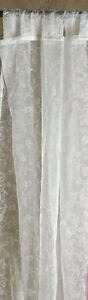 A PAIR OF ORGANZA SHEER CURTAINS 150X213CM -IVORY / GOLD / SILVER / PURPLE