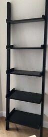 Modern 5-tier Wood Ladder Shelf, Wall Shelf