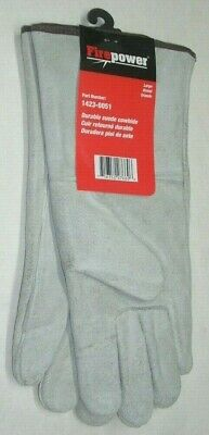 Victor Firepower 1423-0051 Gray Durable Cowhide Welding Gloves Insulated Large