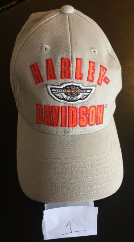 HARLEY DAVIDSON 100TH ANNIVERSARY GRAY EMBROIDERED BASEBALL CAP/HAT EUC! RARE!
