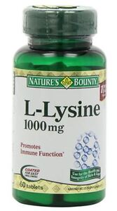 Nature's Bounty L-Lysine 1000 mg Tablets 60 Tablets
