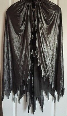 Adult Women SILVER BLACK WING SHOULDER CAPE Halloween Costume Vampire Witch NWT](Target Halloween Costumes For Women)
