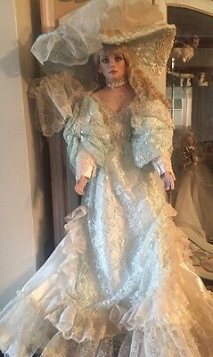 "40"" Rustie Porcelain Doll Beautiful Soft Pale Mint Green Costume"