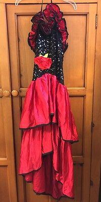 Rubies Vintage KIDS/GIRLS SENORITA/ SPANISH / DANCER HALLOWEEN COSTUME S Large