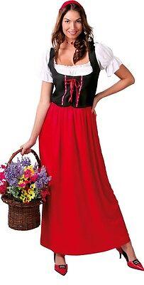 Servant Medieval Costume Fille - Pour Femmes Médiévale Servante Fille Oktoberfest Long
