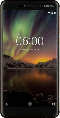 Nokia - 6.1 TA1045 with 32GB Cell Phone (Unlocked) -Black 10/10