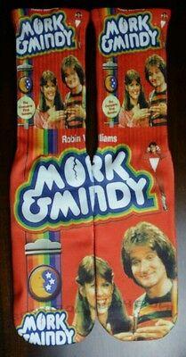 Custom Robin Williams Mork & Mindy dry Fit socks sport blue laney](Robin Socks)