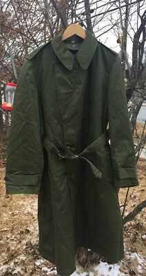 Vintage 50s Korean War US M-1950A Field O.D. Overcoat Jacket. Long Medium