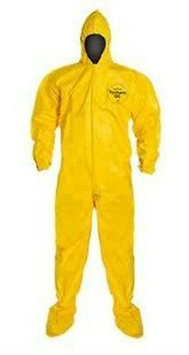 Dupont Tychem Tyvek Qc122 Chemical Hazmat Suit W Hood Boots X-large Xl