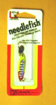Luhr Jensen Needlefish 1051-001-5283 Sz 1 Chart Red Head Pearl with Flipper - Redhead Size Chart