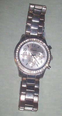 Kyпить Unisex Women Geneva Bling Stainless Steel Rhinestone Crystal Wrist Watch NR на еВаy.соm