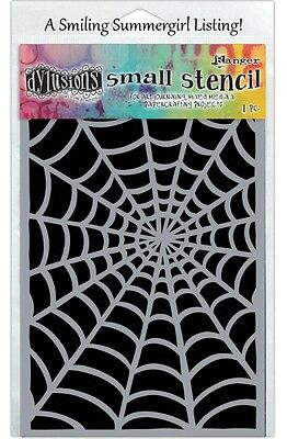 Cobweb Stencil 5x8 Halloween Spider Web Design for Paper Crafting & Journaling - Design For Halloween
