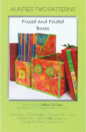 """""""FUSED AND FOLDED BOXES"""" Aunties Two Patterns .... quilt/sew pattern"""