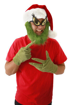 Dr Seuss Grinch Who Stole Christmas Costume Adult Gloves Licensed Elope New - Dr Seuss Who Costumes