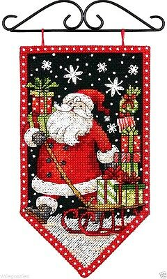 "Dimensions Counted Cross Stitch Kit 5"" x 8"" ~ WINTER BANNER #72-74136 Sale"