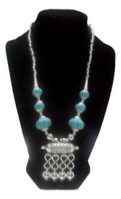 Berber Moroccan Imitation Turquoise  Necklace