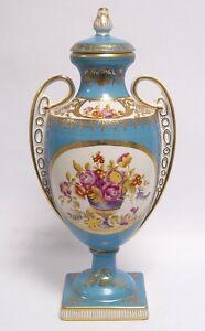 porzellan vase mit deckel sammler gold deco amphore h 37 cm ebay. Black Bedroom Furniture Sets. Home Design Ideas